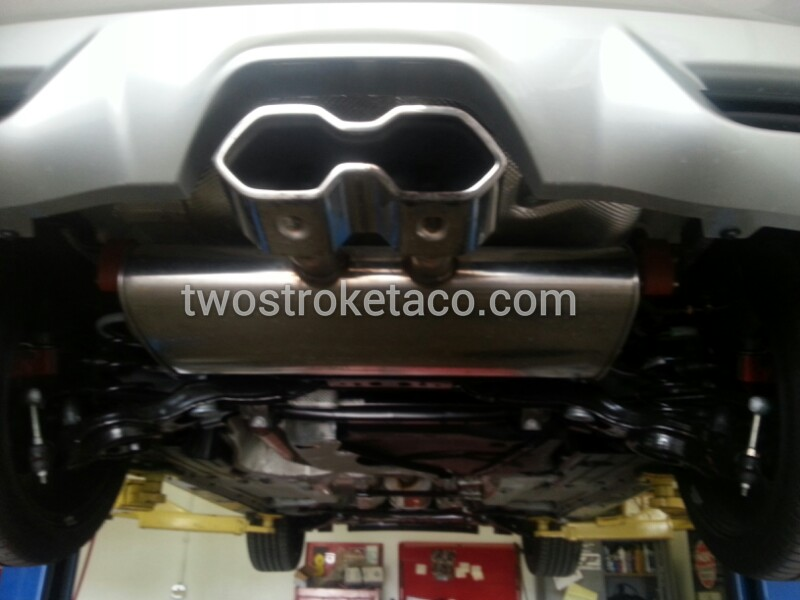 Stock exhaust 2014 ford focus st tip two stroke taco